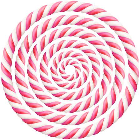 Ensemble de cadre de canne en bonbon dur torsadé rose avec ombre. Fichier vectoriel EPS 10 Vecteurs