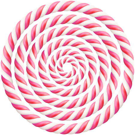 Set of pink twisted hard candy cane frame with shadow. EPS 10 vector file