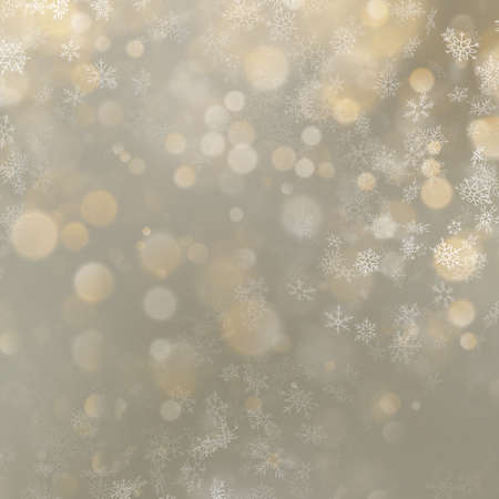 Christmas and New Year abstract gold bokeh background. EPS 10 vector file Ilustração