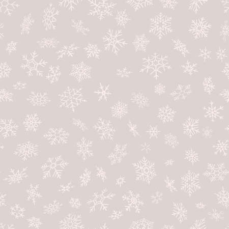 Merry Christmas and Happy New Year seamless snowflakes pattern. Perfect for wrapping paper or textile. EPS 10 vector file