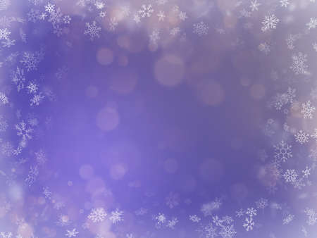 Elegant purple background. Frame with snowflakes overlaid with colorful mist and fog. EPS 10 vector file  イラスト・ベクター素材