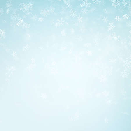 Abstract Christmas background with snowflakes. Elegant blue winter template. Eps 10 vector file Vektorgrafik