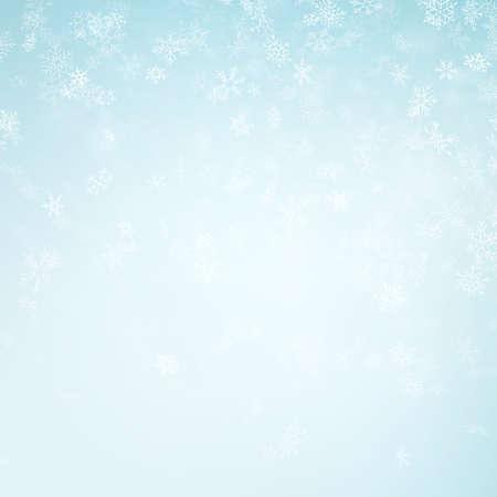 Streszczenie tło Boże Narodzenie z płatkami śniegu. Elegancki niebieski szablon zimowy. Eps 10 plik wektorowy Ilustracje wektorowe