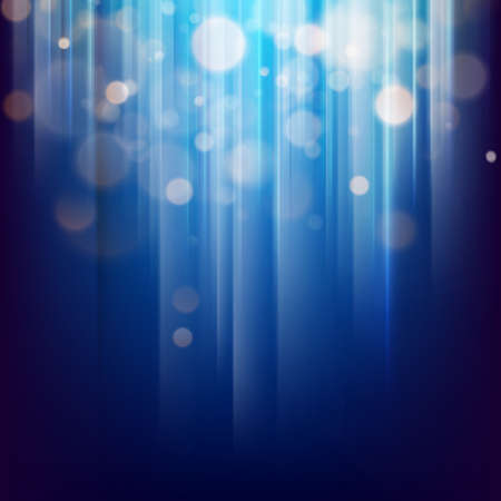 Abstract bokeh background of golden light with blue background. EPS 10 vector file included