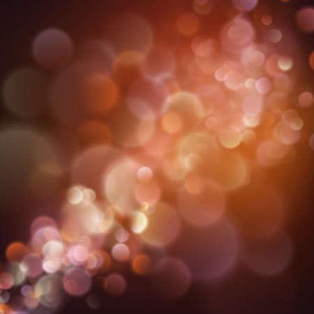 Warm abstract bokeh background. Defocused festive lights. EPS 10 vector file