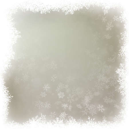 Delicate winter snow background with snow flakes. Beautiful Christmas and New Year template. EPS 10 vector file