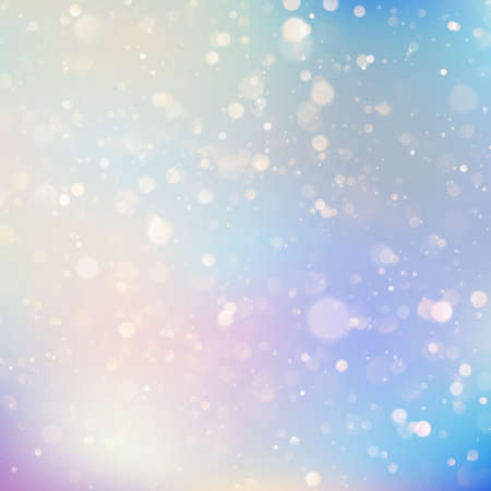 Background of soft delicate blue and purple pastel colored glittering bokeh light reflections. EPS 10 vector file  イラスト・ベクター素材