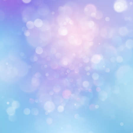 Colorful abstract vivid blur bokeh circles in soft color style background. Glitter holiday purple blue pink template. Luxurious natural texture. EPS 10 vector file Illustration