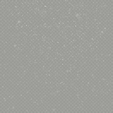 Christmas snow falling overlay effect. EPS 10 vector file Illustration