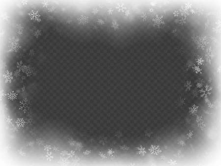 Abstract Christmas frame overlay effect with snowflakes. EPS 10 vector file Vetores