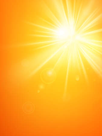 Summer template hot summer sun rays burst with lens flare. EPS 10 vector file