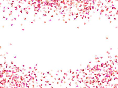Wielokolorowe papierowe serca. Konfetti efektowe łatwe w użyciu. Walentynki płatki widok z góry. Na białym tle. Plik wektorowy EPS 10 Ilustracje wektorowe