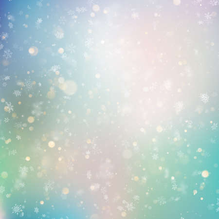 Christmas background with white blurred snowflakes. EPS 10 vector file Фото со стока - 115427386
