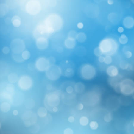 Abstract blue sky background with blur bokeh light effect. EPS 10 vector file Vettoriali