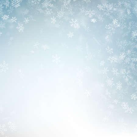 Abstrakter Weihnachtshintergrund mit Schneeflocken. Elegante blaue Wintervorlage. Eps 10-Vektordatei