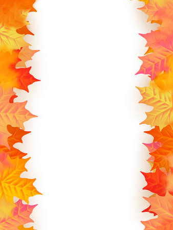 Back to school template. Autumn background with leaves. EPS 10 vector file