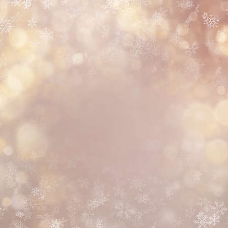 Christmas and New Year shimmering blur golden lights on abstract background. EPS 10 vector file Vector Illustration