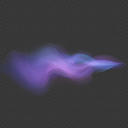 Light wave neon swirl overlay flare trace effect isolated on transparent background. Çizim
