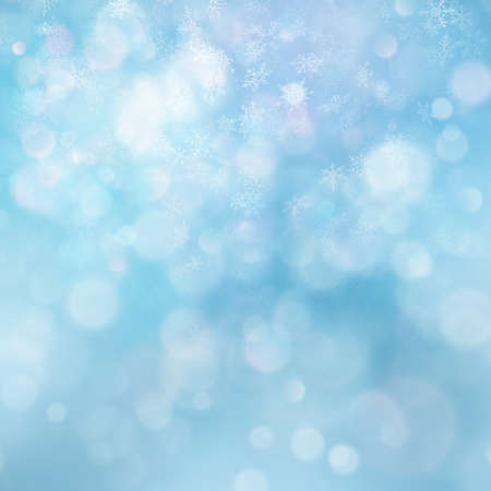 Christmas abstract template. Light background with snowflakes and stars.