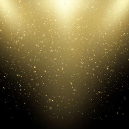 Glittering stars with bokeh on dark Christmas background. EPS 10 vector file Vetores