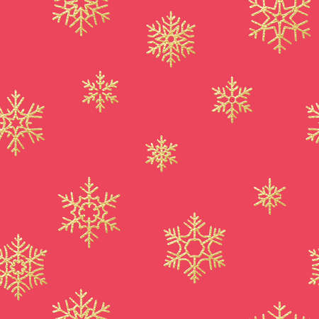 Christmas snowflakes seamless repeating pattern background.