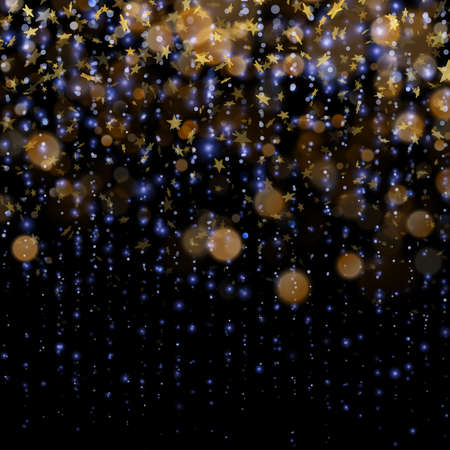 Stars on defocused magic abstract blur background. EPS 10 vector file included