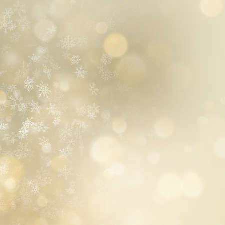 Fondo bokeh dorado de Navidad y año nuevo. Archivo de vector EPS 10 Ilustración de vector