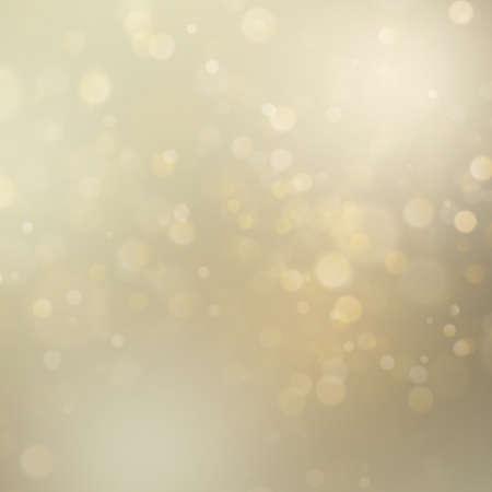 Abstrakter goldener Funkelndefokussierter Bokeh-Hintergrund. Weihnachtsvorlage. Weihnachtsbeleuchtung. EPS-10-Vektordatei Vektorgrafik