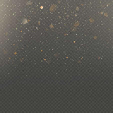 Effet de superposition pour carte riche de voeux de luxe. Lumière de poussière d'étoile sur fond transparent. Fichier vectoriel EPS 10