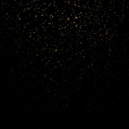 Overlay effect for luxury greeting rich card. Star dust light on black background. EPS 10 vector file