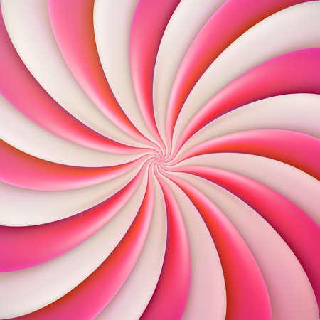 Ronde roze zoete snoepsjabloon voor spandoek, omslag, brochure, poster, flyer, kaart, briefkaart EPS-10 vectorbestand Vector Illustratie