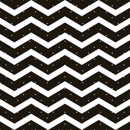Seamless polka dot with chevron zigzag pattern. Geometric stripe with circles. Just drop to swatches and enjoy EPS 10 vector file