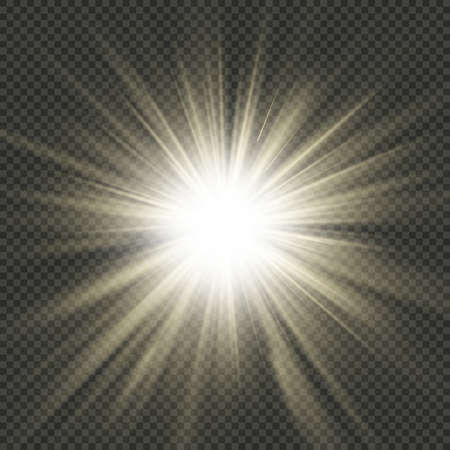 Star burst rays. Light effect. Isolated on transparent background. EPS 10 vector file
