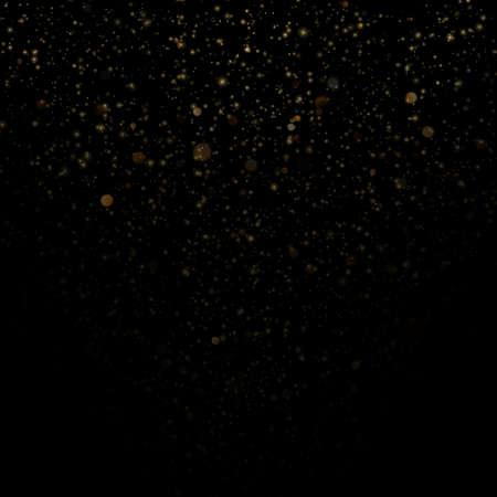 Overlay effect glitter gold light shine effect on black background. EPS 10 vector file Çizim