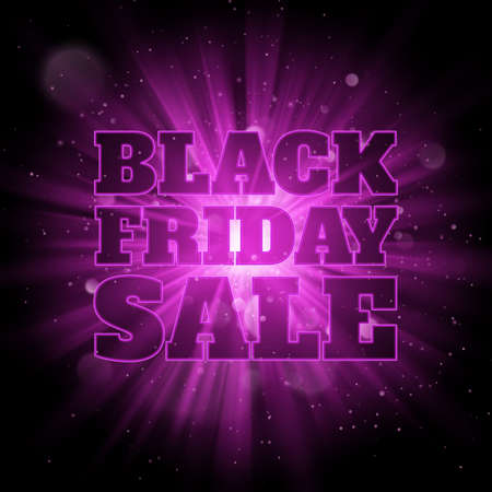 Shining burst background with blurred bokeh lights and dust. Black friday sale. EPS 10