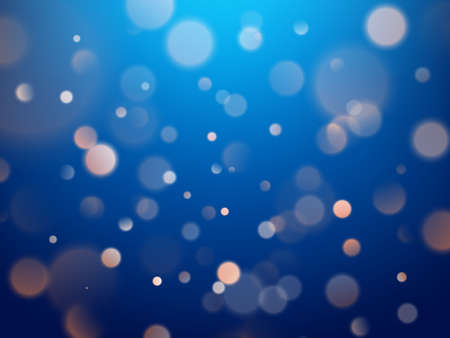 Abstract warm bokeh effect on blue background. Gold glitter lights. EPS 10 写真素材 - 136226083