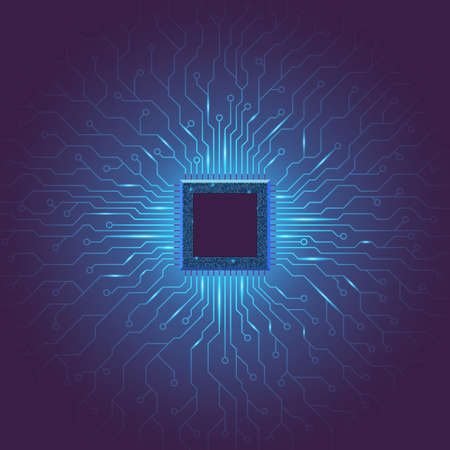 Machine deep learning technology background template. EPS 10
