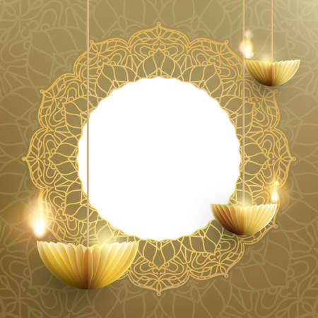 Happy Diwali card template. The Indian festival of lights.