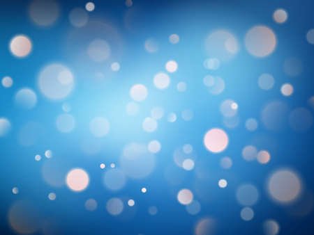 Abstract warm bokeh effect on blue background. Gold glitter lights. EPS 10 写真素材 - 143612274