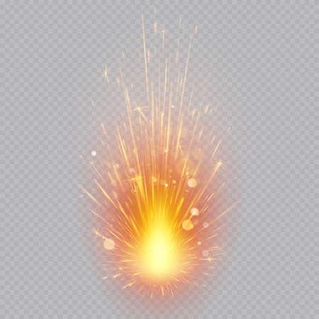 Fireworks effect. Flying sparks. Magic motion.