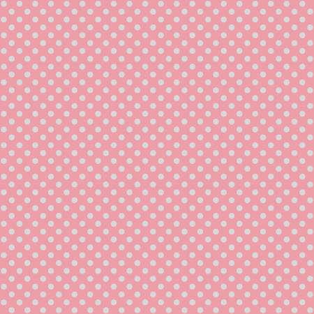 Seamless pink polka dot fabric template.