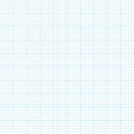Blue millimetre seamless paper background. Engineering graph, square grid background.
