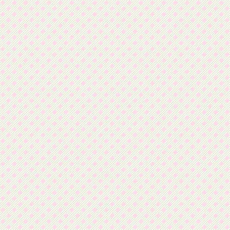 Seamless pastel polka dot with diagonal lines pattern background. Pink dotted template.
