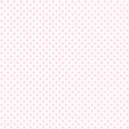 Seamless pink polka dot pattern background. Pastel dotted template. Ilustração