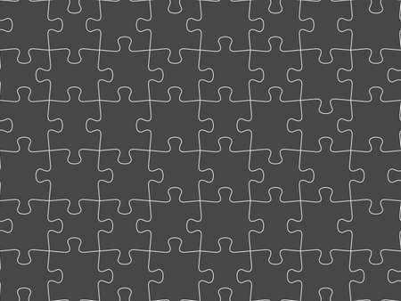 Seamless piece puzzle presentation jigsaw dark background pattern. Vecteurs