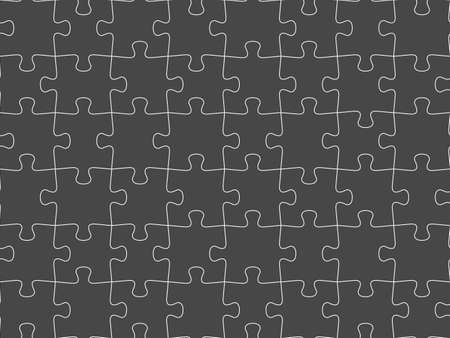 Seamless piece puzzle presentation jigsaw dark background pattern. Vetores