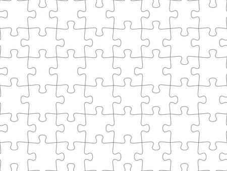 Seamless piece puzzle presentation jigsaw background pattern. Ilustração