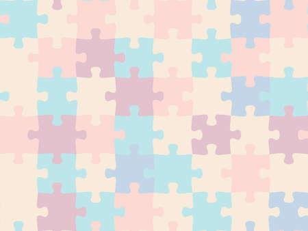Colorful seamless piece puzzle presentation jigsaw background pattern. Vektorgrafik
