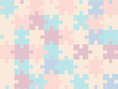 Colorful seamless piece puzzle presentation jigsaw background pattern.