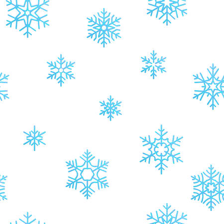 Merry Christmas holiday decoration effect background. Blue snowflake seamless pattern template. Foto de archivo - 143697817